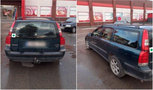 """Policija ieško, kas Alytuje apgadino """"Volvo"""" automobilį"""