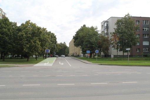 Ateities tako ir Gedimino gatvės sankryžoje bus įrengta papildoma eismo juosta