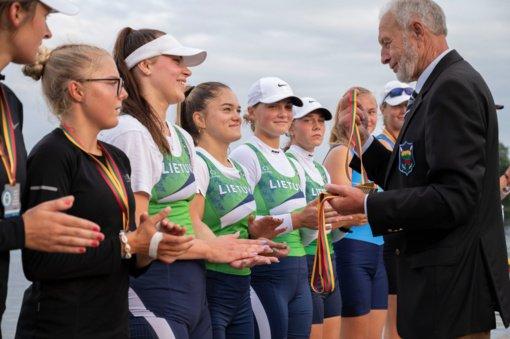 Išdalyti medaliai šalies jaunių irklavimo čempionate