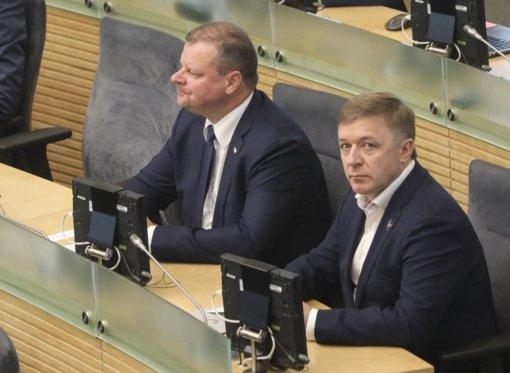 R. Karbauskis apie santykius su S. Skverneliu: atrodo, kad jis nėra patenkintas