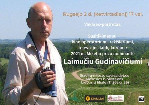 Biblioteka kviečia į susitikimą su režisieriumi Laimučiu Gudinavičiumi