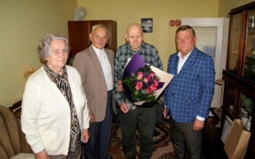 95-erių metų jubiliejaus proga pasveikintas Laisvės kovų savanoris Jonas Svetikas – Lakūnas