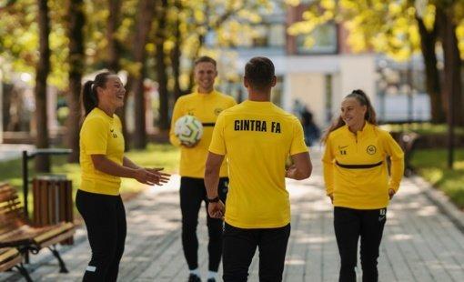 """Pozityvi """"Gintros"""" futbolo akademija pristato savo viziją ir kviečia į pirmąją susipažinimo treniruotę"""