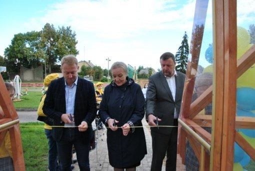 """Joniškio """"Saulės"""" pagrindinėje mokykloje atidaryta nauja edukacinė erdvė"""