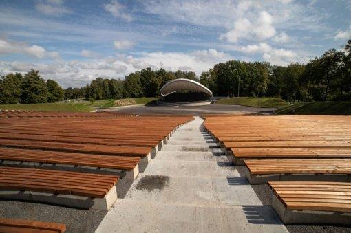 Modernizuota Šiaulių centrinio parko estrada – didžiausia visame regione
