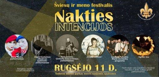 """Šviesų ir meno festivalis """"Nakties intencijos"""" nušvis Šeduvoje"""