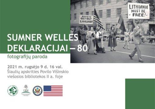 """Parodos """"Sumner Welles deklaracijos 80-mečiui"""" atidarymas"""
