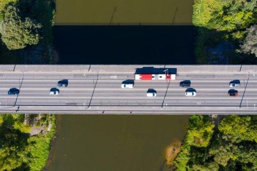 Iki remonto darbų ant Valakampių tilto bus ribojama apkrova