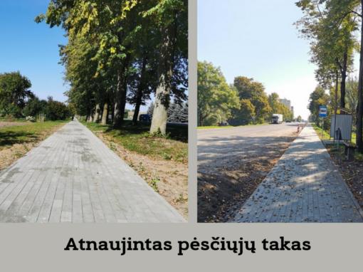 Marijampolė keičiasi: atnaujintas dar vienas pėsčiųjų takas