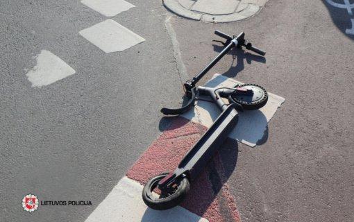 Vilniuje automobilis kliudė paspirtuku važiavusį vyrą