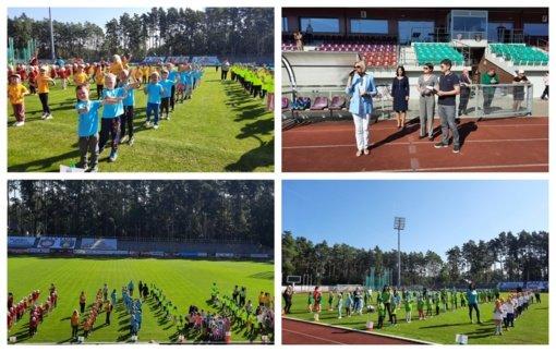 Alytaus miesto stadione – atvirų žaidynių diena Alytaus ir Suvalkų darželinukams
