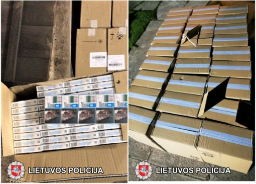 Marijampolės kriminalistai sulaikė 150 tūkst. eurų vertės kontrabandinių cigarečių