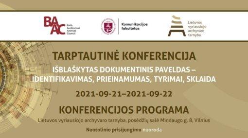 Tarptautinės mokslinės konferencijos akiratyje – užsienyje saugomas su Lietuva susijęs dokumentinis paveldas