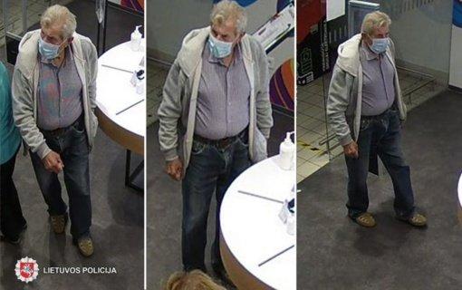 Panevėžio policija ieško mobilųjį telefoną pavogusio vyro