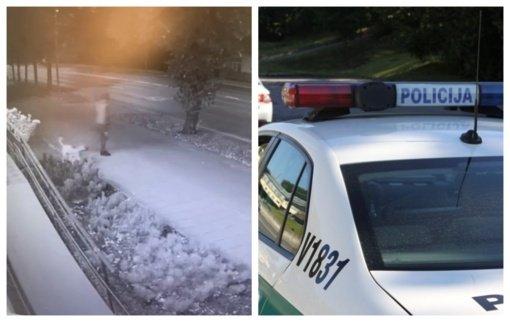 Demaskuoti automobilį apšvarinusį ilgapirštį pareigūnams padėjo vaizdo kameros