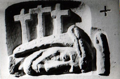 """Grūšlaukės bažnyčią papuošė skulptoriaus A. Mončio sukurtos """"Kryžiaus kelio stotys"""""""