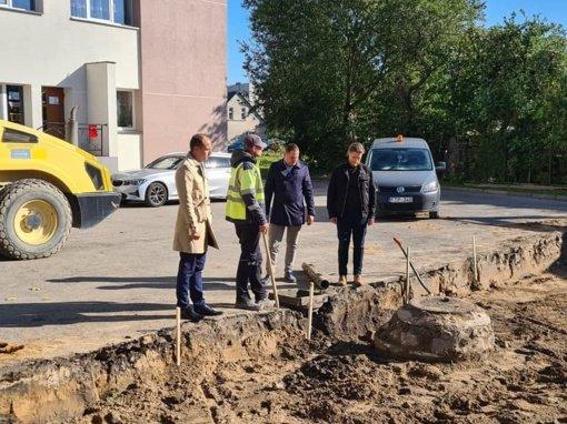 Atnaujinamos viešosios erdvės Skuodo mieste