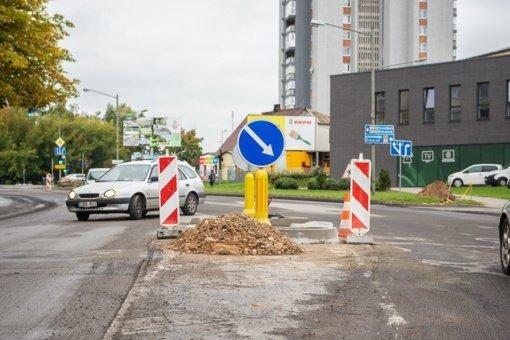 Panevėžio centras virto statybų aikštele: rekonstruojama J. Basanavičiaus gatvė