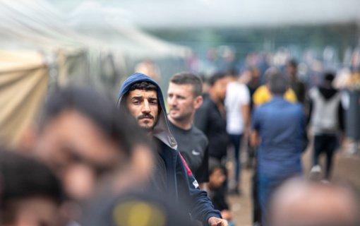 Iš Rūdninkų stovyklos į šildomas patalpas Kybartuose perkelti visi migrantai