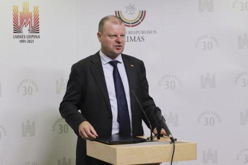 S. Skvernelis ragina I. Šimonytę perkrauti Vyriausybę: valstybė artėja prarajos link, reikia atleisti dalį ministrų