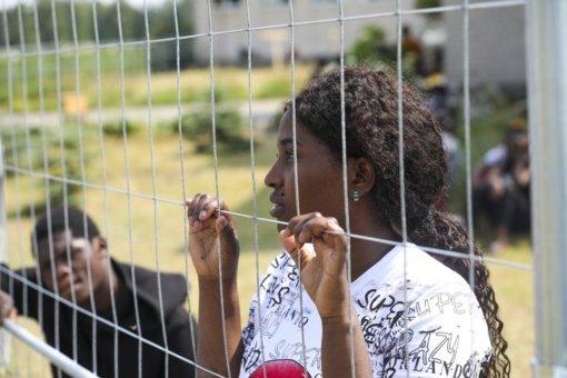 Rukloje – gyvenimo sąlygomis nepatenkintų migrantų protestas