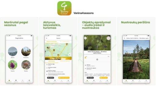 """Kviečia naudotis mobiliąja programėle """"Varėna4seasons"""""""