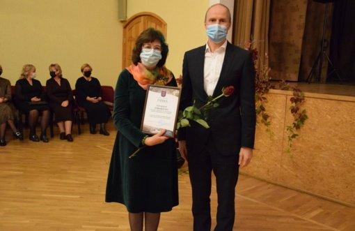 Tarptautinės mokytojų dienos minėjime – padėkos geriausiems Vilkaviškio rajono mokytojams