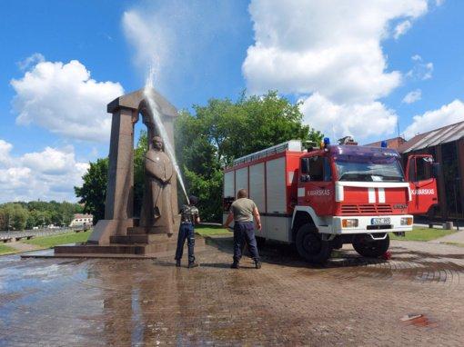 Antano Baranausko paminklas vėl kaip naujas