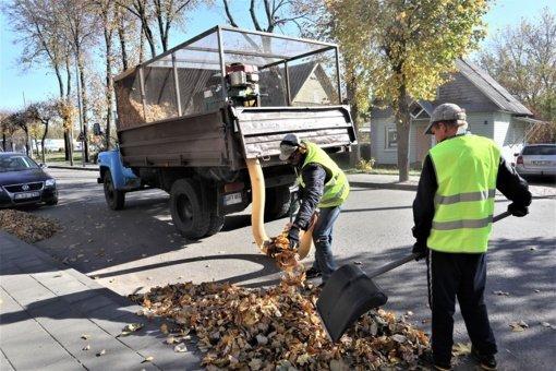 Į Ignalinos gatves išriedėjo vakuuminis lapų siurblys