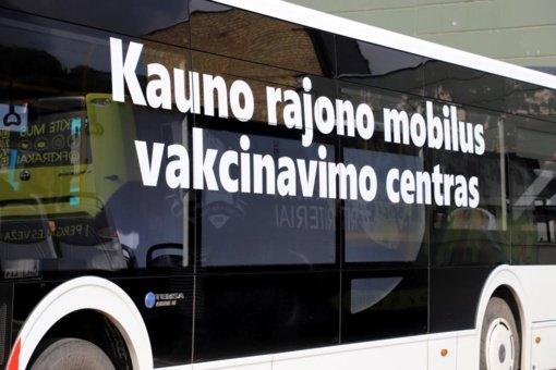 Kauno rajono skiepų autobusas baigia darbą