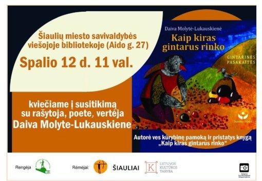 Susitikimas su poete Daiva Molyte-Lukauskiene
