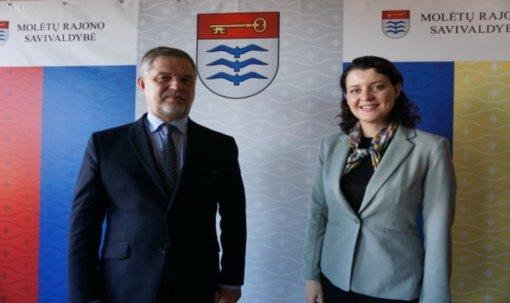 Molėtuose lankėsi socialinės apsaugos ir darbo ministrė Monika Navickienė