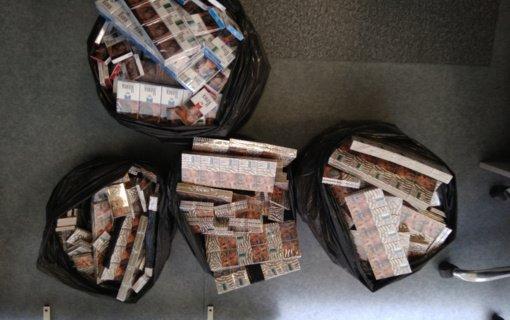 Automobilyje Vilniuje rasta kontrabandinių rūkalų