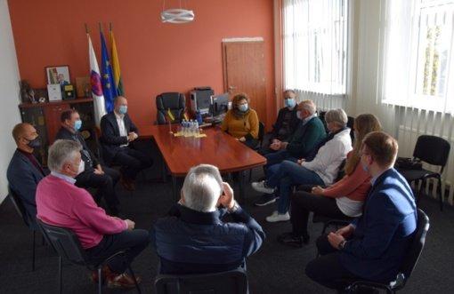 Vilkaviškio rajone vieši garbės pilietis Alfonsas Hopingas iš Vokietijos