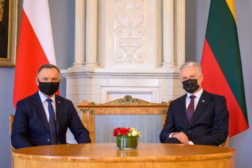 G. Nausėda po susitikimo su Lenkijos vadovu: kaimynystėje turime patikimą draugą ir sąjungininką