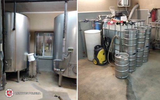 Panevėžio policija sudavė smūgį šešėliniam alaus verslui