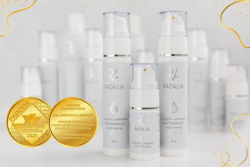"""Natūrali kosmetika """"Razalija"""" trečią kartą pelnė aukso medalį"""