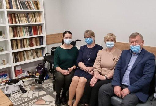Radviliškio rajono meras lankėsi Baisogalos sveikatos priežiūros įstaigose
