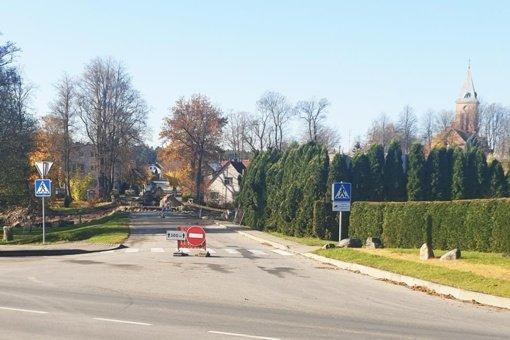 Tirkšliuose ribojamas eismas – vyksta rekonstrukcijos darbai