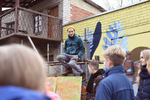 Kazlų Rūdą papuoš žymaus gatvės dailininko kūrinys