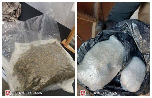 Marijampolės kriminalistai Kaune sulaikė daugiau kaip 2,5 kg kokaino, amfetamino bei kanapių