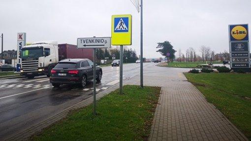 Eismo saugumo komisija kreipėsi į Kelių direkciją dėl nesaugios sankryžos