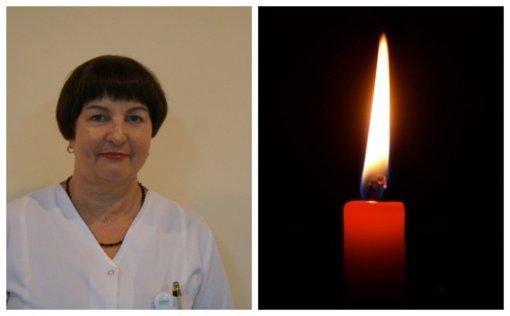 Anapilin iškeliavo gydytoja onkologė chemoterapeutė Nijolė Šatkauskienė