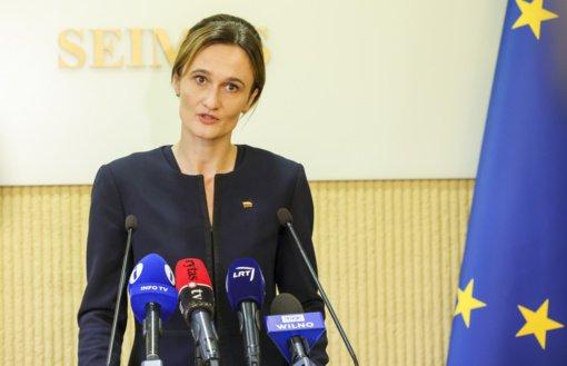 Seimo pirmininkė: tikiuosi, G. Nausėda ir T.V. Raskevičius ras būdų sutarti dėl susitikimo formos