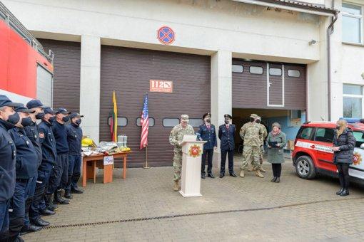 Dalis JAV paramos atiteks ir Lazdijų priešgaisrinei gelbėjimo tarnybai