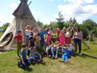 Vėriškių vaikų dienos centro lankytojai stovyklavo pajūryje
