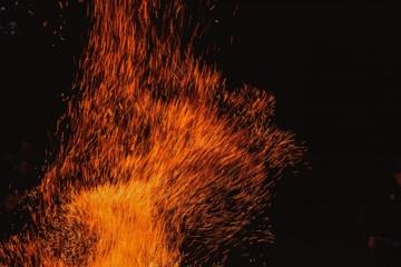Alytaus rajone degė ūkinis pastatas