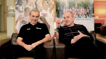 Pokalbis su nusipelniusiais krepšinio treneriais Gintautu Žibūda ir Stasiu Žaliabarščiu