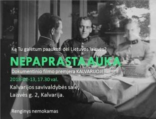 """Nepaprasta auka"" – paminklas J. Vitkui-Kazimieraičiui"