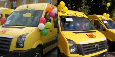 Nauji mokykliniai autobusai rajono mokykloms